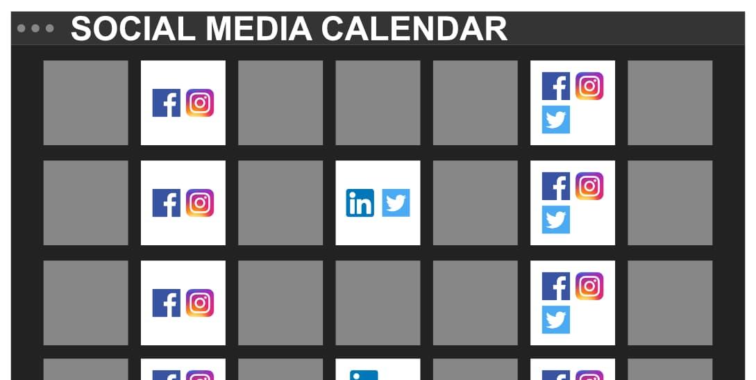 Example of Social Media Post Calendar
